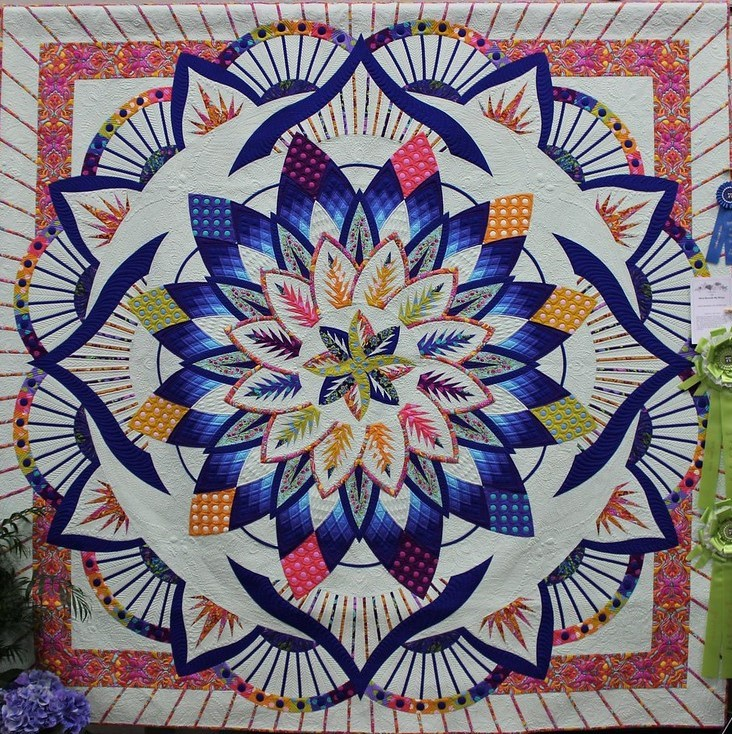 Wind Beneath My Wings  Janet Sebastian JB McCrary Quilted by Sue Daurio